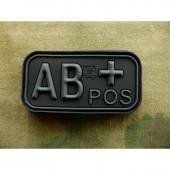 JTG BLOOD TYPE PATCH AB POSITIVE BLACKOPS 3D RUBBER