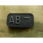 JTG BLOOD TYPE PATCH AB NEGATIVE BLACKOPS 3D RUBBER