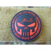 JTG THE INFIDEL PUNISHER PATCH BLACKMEDIC 3D RUBBER