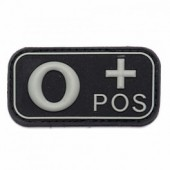 ACM PATCH 3D PVC BLOOD TYPE O+ POSITIVE BLACK