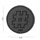 ACM PATCH 3D PVC HASHTAG BLACK