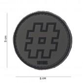 ACM PATCH 3D PVC HASHTAG BLACK