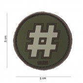 ACM PATCH 3D PVC HASHTAG GREEN