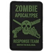 8FIELDS ZOMBIE APOCALYPSE PVC PATCH BLACK/GREEN