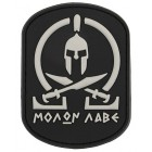 8FIELDS MOLON LABE PVC PATCH BLACK