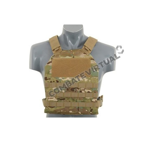 8FIELDS SIMPLE PLATE CARRIER WITH DUMMY SOFT ARMOR INSERTS - MULTICAM