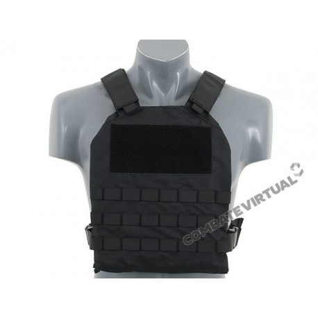 8FIELDS SIMPLE PLATE CARRIER WITH DUMMY SOFT ARMOR INSERTS - BLACK