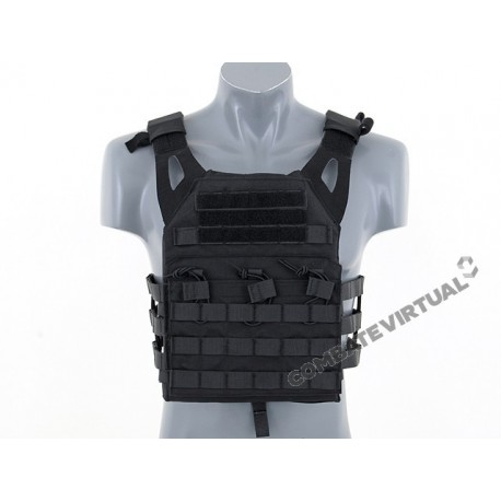 EMERSON LIGHTWEIGHT JUMP PLATE CARRIER WITH DUMMY SAPI PLATES BLACK