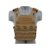 EMERSON LIGHTWEIGHT JUMP PLATE CARRIER WITH DUMMY SAPI PLATES TAN