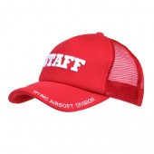ACM BASEBALL CAP MESH STAFF RED