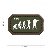 ACM PATCH 3D PVC AIRSOFT EVOLUTION GREEN/BROWN