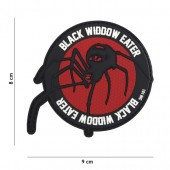 ACM PATCH 3D PVC BLACK WIDDOW EATER RED