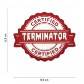 ACM PATCH 3D PVC TERMINATOR RED
