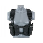 8FIELDS SPLIT FRONT CHEST HARNESS - BLACK