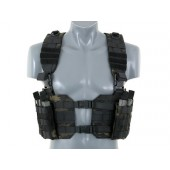 8FIELDS SPLIT FRONT CHEST HARNESS - MULTICAM BLACK