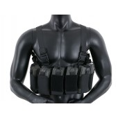 8FIELDS OPEN TOP CHEST RIG - BLACK