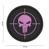 ACM PATCH 3D PVC PUNISHER SIGHT PINK