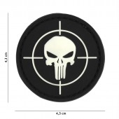 ACM PATCH 3D PVC PUNISHER SIGHT BLACK