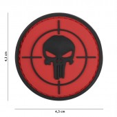 ACM PATCH 3D PVC PUNISHER SIGHT RED