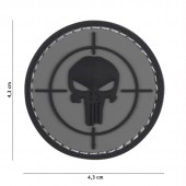 ACM PATCH 3D PVC PUNISHER SIGHT GREY