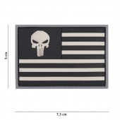 ACM PATCH 3D PVC PUNISHER USA FLAG GREY/BLACK