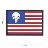 ACM PATCH 3D PVC PUNISHER USA FLAG
