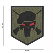 ACM PATCH 3D PVC COMMANDO PUNISHER GREEN