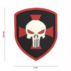 ACM PATCH 3D PVC SHIELD PINISHER CROSS RED