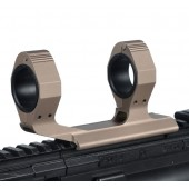"AIM-O 25.4/30MM 1"" EXTENDED SCOPE MOUNT FOR OPTICS WITH BUBBLE LEVER - TAN"