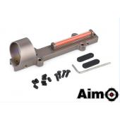 AIM-O 1X28 COLLIMETER SIGHT OPTIC FIBER RED CIRCLE DOT SIGHT FOR SHOTGUN - TAN