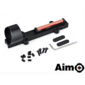 AIM-O 1X28 COLLIMETER SIGHT OPTIC FIBER RED CIRCLE DOT SIGHT FOR SHOTGUN - BLACK