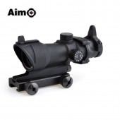 AIM-O ACOG 4X32 SCOPE RED/GREEN RETICLE WITH QD MOUNT - BLACK