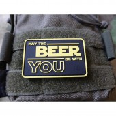 JTG MAY THE BEER BE WITH YOU FULLCOLOR 3D RUBBER PATCH