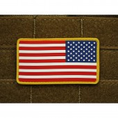 JTG US FLAG REVERSED PATCH FULL COLOR 3D RUBBER