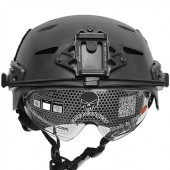 EMERSON EXF BUMP HELMET BLACK WITH PROTECTIVE GOOGLES