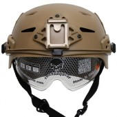 EMERSON EXF BUMP HELMET TAN WITH PROTECTIVE GOOGLES