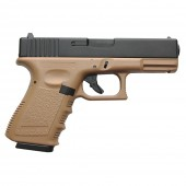 KJ WORKS G23 GAS BLOWBACK (ABS SLIDE) TAN