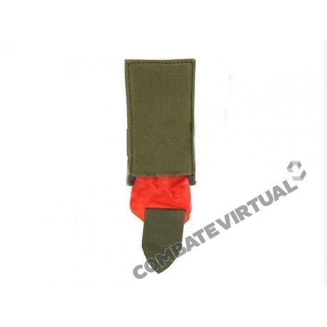8FIELDS AIRSOFT DEAD RED RAG POUCH OLIVE