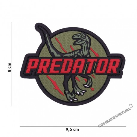 ACM PATCH PVC PREDATOR RED