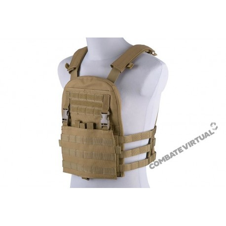 GFC PLATE CARRIER W/ REMOVAL PANEL TACTICAL VEST TAN